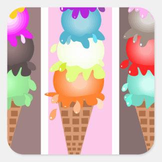 アイスクリームコーン スクエアシール