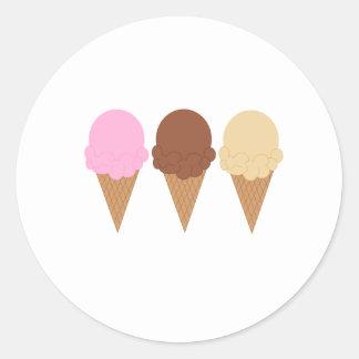 アイスクリームコーン ラウンドシール