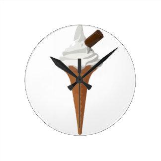 アイスクリームコーン ラウンド壁時計