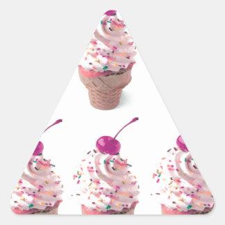 アイスクリームコーン 三角形シール