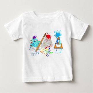 アイスクリームコーン! 新しいペンキの版 ベビーTシャツ