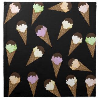 アイスクリームパターン ナプキンクロス