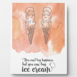 アイスクリームファンのための夏の引用文 フォトプラーク