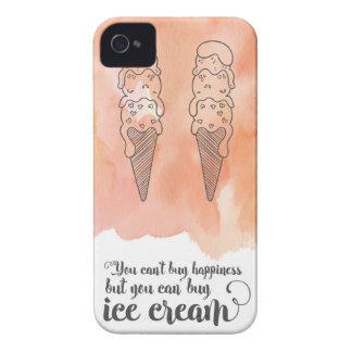 アイスクリームファンのための夏の引用文 Case-Mate iPhone 4 ケース