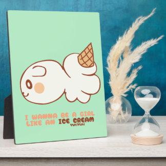 アイスクリームマーケット icecream market フォトプラーク