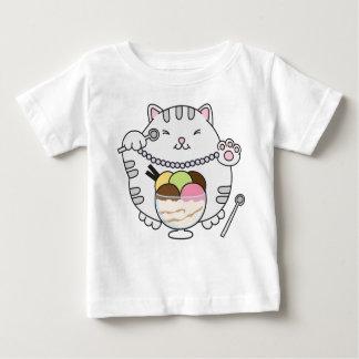 アイスクリーム猫 ベビーTシャツ