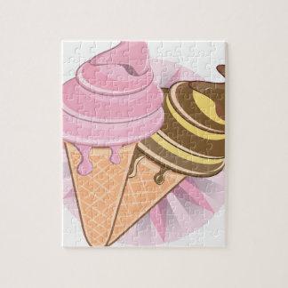 アイスクリーム ジグソーパズル