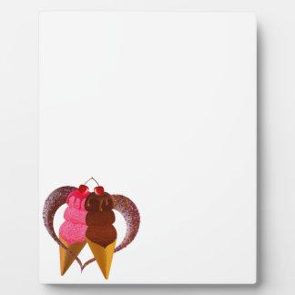 アイスクリーム フォトプラーク
