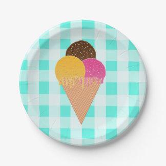 アイスクリーム ペーパープレート