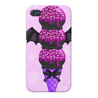アイスクリーム: (紫色のこうもり版) iPhone 4 CASE