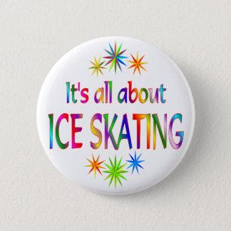 アイススケートについて 5.7CM 丸型バッジ