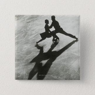 アイススケートのカップル 5.1CM 正方形バッジ