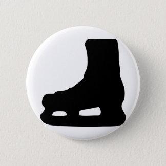 アイススケートのスケート 5.7CM 丸型バッジ