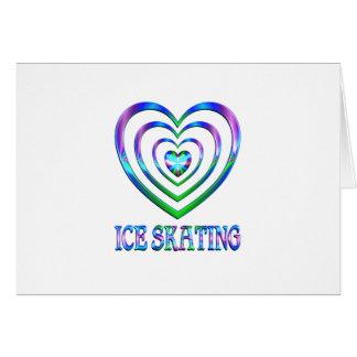 アイススケートのハート カード
