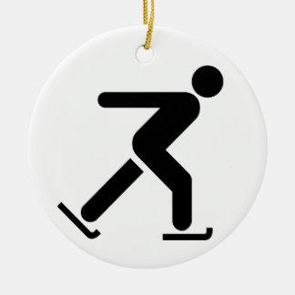 アイススケートの記号のオーナメント セラミックオーナメント