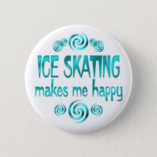 アイススケートは私を幸せにさせます 5.7CM 丸型バッジ
