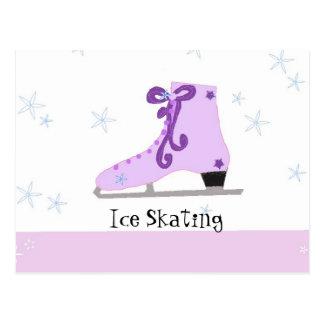 アイススケート ポストカード