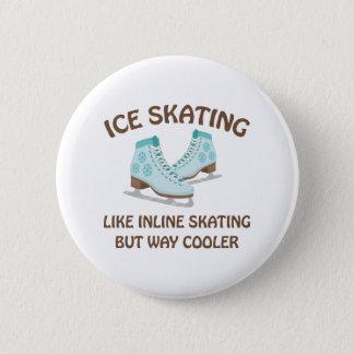 アイススケート 5.7CM 丸型バッジ