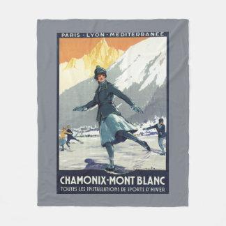 アイススケート- PLMのオリンピック広告宣伝ポスター フリースブランケット