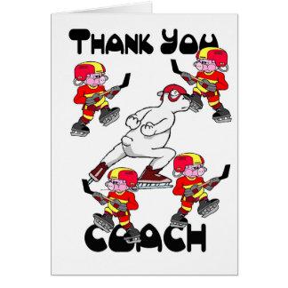 アイスホッケーのコーチありがとう カード