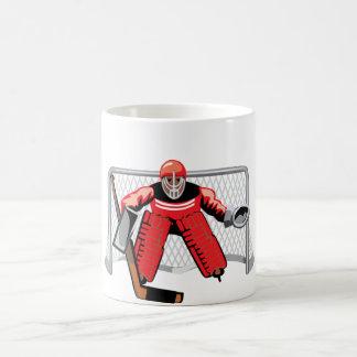 アイスホッケーのゴールキーパーのマグ コーヒーマグカップ