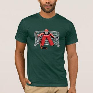 アイスホッケーのゴールキーパーメンズTシャツ Tシャツ