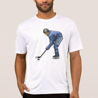 アイスホッケーの時間メンズ能動態のティー Tシャツ