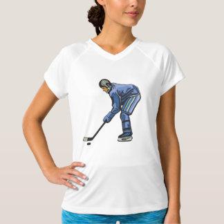 アイスホッケーの時間レディース能動態のティー Tシャツ