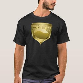 アイスホッケーの金ゴールドの盾 Tシャツ