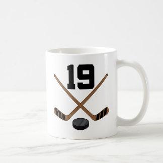 アイスホッケープレーヤーのジャージーの第19ギフト コーヒーマグカップ