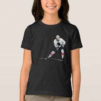アイスホッケープレーヤーの女の子のTシャツ Tシャツ
