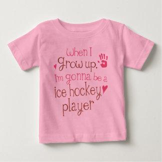 アイスホッケープレーヤー(未来)の幼児ベビーのTシャツ ベビーTシャツ