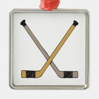 アイスホッケー用スティック メタルオーナメント