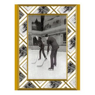 アイスホッケー1920年 ポストカード