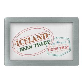 アイスランドそこにそれされる 長方形ベルトバックル