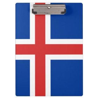 アイスランドのクリップボードの旗 クリップボード