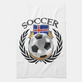 アイスランドのサッカー2016ファンのギア キッチンタオル
