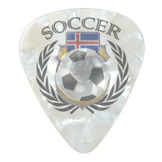 アイスランドのサッカー2016ファンのギア パールセルロイド ギターピック