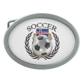 アイスランドのサッカー2016ファンのギア 卵形バックル