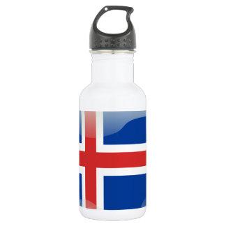 アイスランドの光沢のある旗 ウォーターボトル