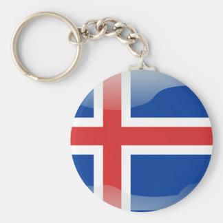 アイスランドの光沢のある旗 キーホルダー