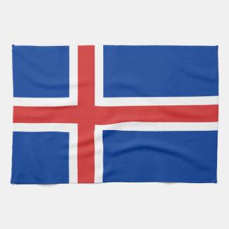 アイスランドの台所タオルの旗 キッチンタオル