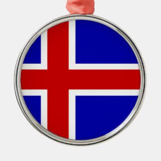 アイスランドの国の長い旗の国家の記号共和国 メタルオーナメント
