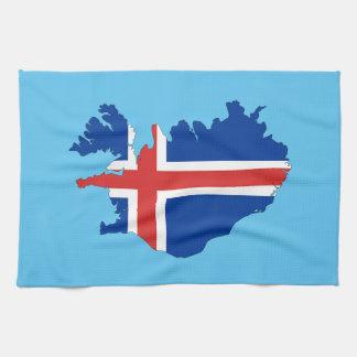 アイスランドの国旗 キッチンタオル