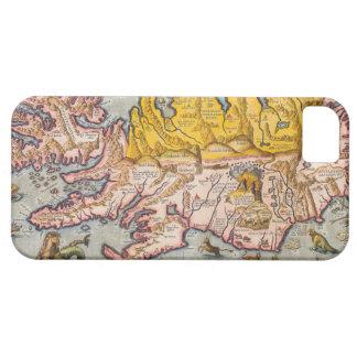 アイスランドの地図 iPhone SE/5/5s ケース