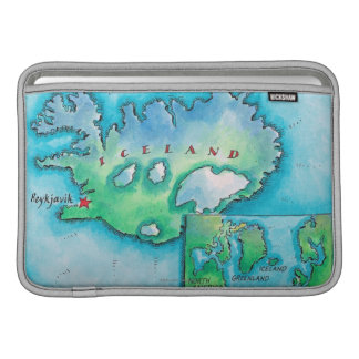 アイスランドの地図 MacBook スリーブ
