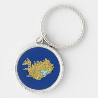 アイスランドの地図Keychain キーホルダー