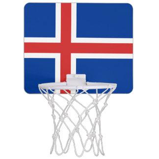 アイスランドの小型バスケットボールのゴールの旗 ミニバスケットボールネット
