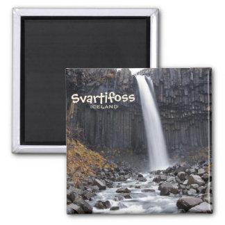 アイスランドの文字の磁石のSvartifossの正方形の滝 マグネット