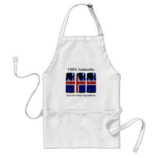 アイスランドの旗のスパイスはエプロンを震動させます スタンダードエプロン
